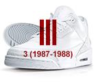 air jordan iii white red Air Jordan   History of the Franchise