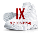 air jordan ix white black Air Jordan   History of the Franchise