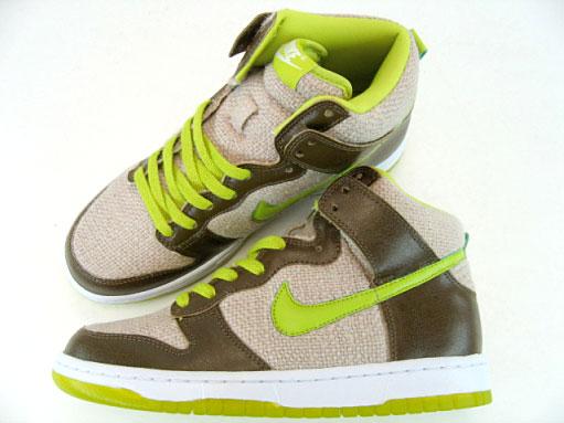 Nike Dunk High GS - Shrek - SneakerNews.com
