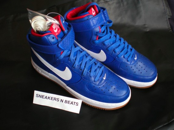Nike Air Force 1 High Premium Bobbito Puerto Rico Red Blue White