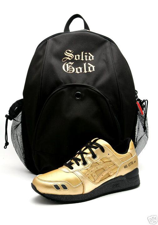 asics bag gold
