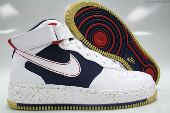 check out wholesale sales latest NAM Prods: Nike Air Force 1 Mid Supreme CB 34 Olympic Inspired