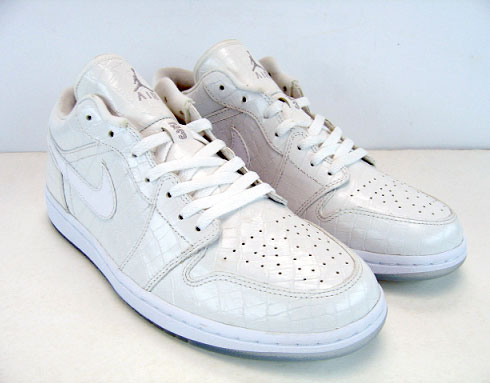 air jordan 1 low white crocodile