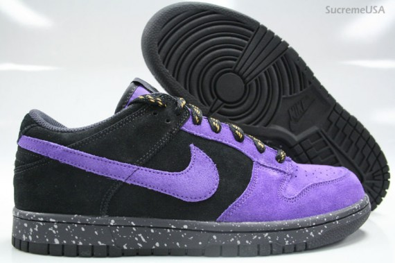 low priced e9524 05aa9 Nike Dunk Low CL - Black Varsity Purple Suede