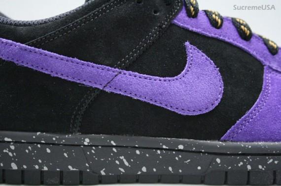 Nike Dunk Low CL - Black/Varsity Purple Suede