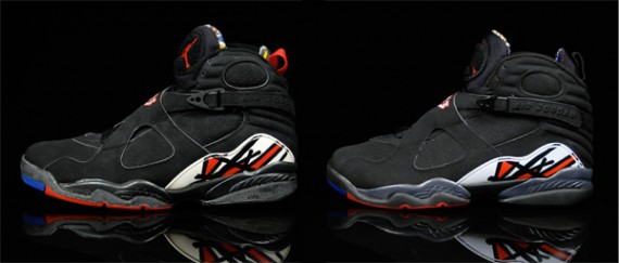 0fda9a92d9fb Air Jordan VIII (8) Playoff OG vs. Retro Comparison Photos ...