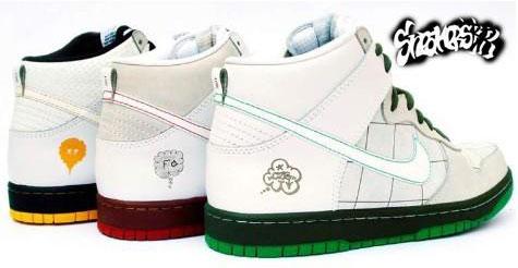 Nike Dunk High SB - Brasil Custom