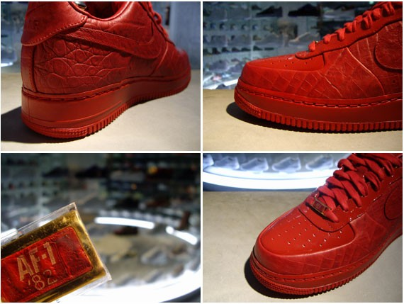 best sneakers c103b 32b0f 60%OFF Nike Air Force 1 Red Croc Red Patent Hectic
