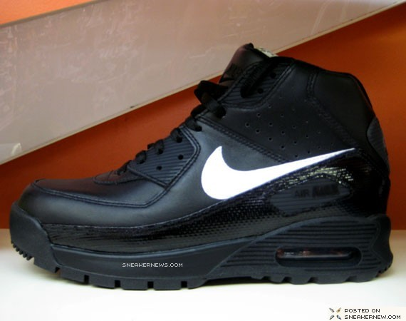 nike air max 90 boot blackwhite now available