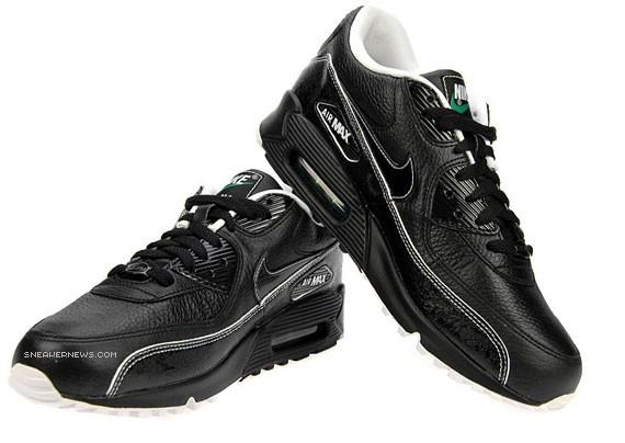 designer fashion fd597 0bc6b Nike Air Max 90 - JD Sports - Black-White-Green ...