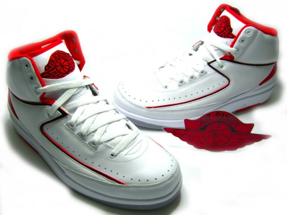 Air Jordan Retro II White Varsity Red Collezione Pack #3