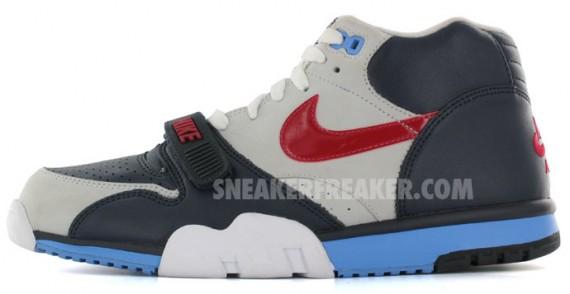reputable site efa37 7b977 air tirainer 1 grey red blue. One of Nikes original trainer .