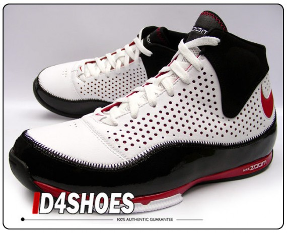 buy online e9198 a4575 Nike Zoom BB II – White-Black-Red – Now Available