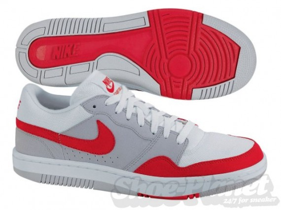 brand new 8a451 96629 Nike Court Force Low Air Max 1 Inspired Style 314361-061. Color Neutral  GreyRed-White