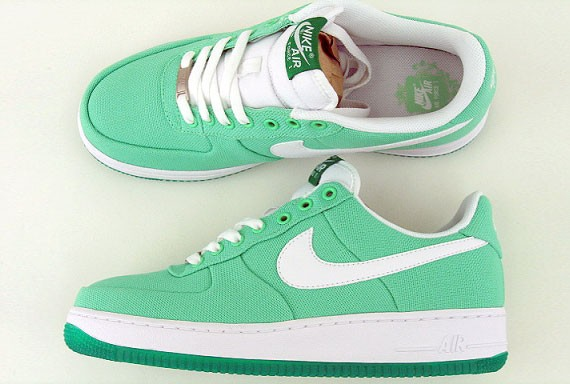 nike air force 1 womens canvas – lucky green
