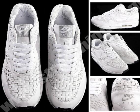 Nike White Woven Air Max 1 - Air Zoom Talache 1 Low & Mid