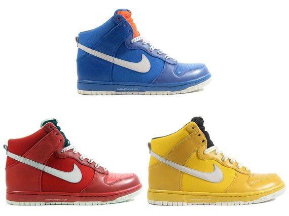 Nike Dunk High Be True in Solid Colors - Blue, Red, Yellow