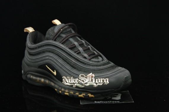 861373b95311 Nike Air Max 97 Black Gold Sample - SneakerNews.com