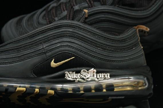 watch 51b34 8ff3c Nike Air Max 97 Black Gold Sample - SneakerNews.com
