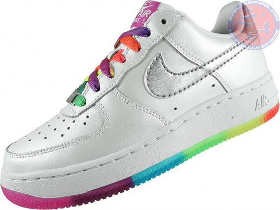 Nike Air Force 1 Gs White Rainbow Outsole