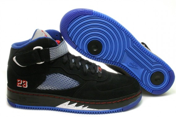 jordan 5 black and blue