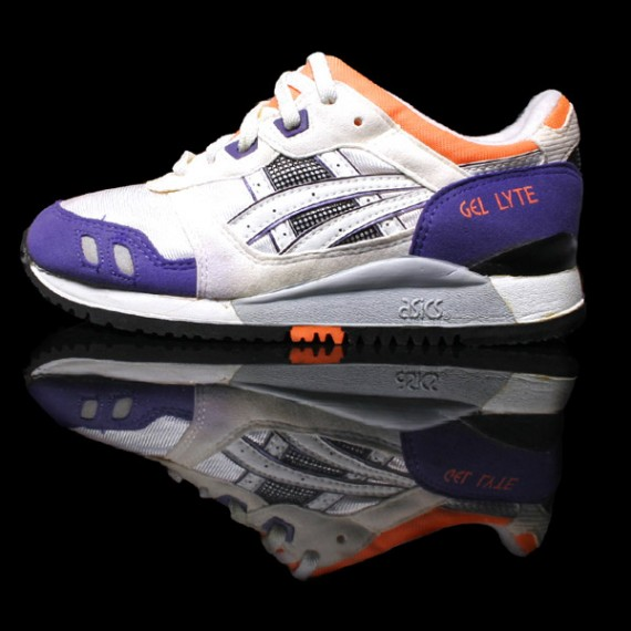f5ea2289bb16 Asics Gel Lyte III - OG White - Purple - Orange Colorway ...