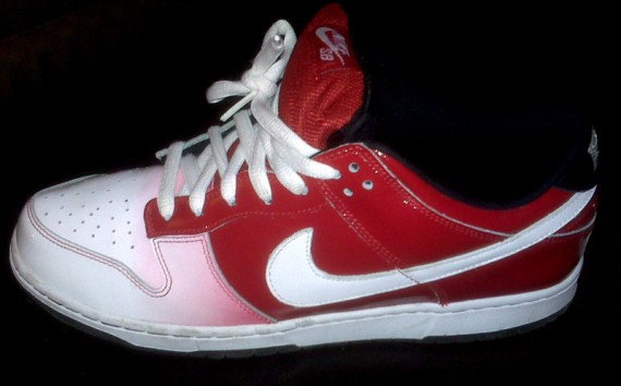 low priced d54b0 e91d8 ... Nike SB Dunk Low Premium – Kuwahara ET – Red Patent ...