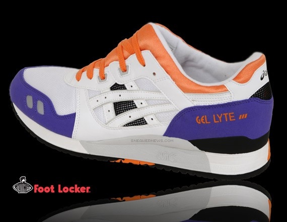 asics gel lyte iii white purple orange