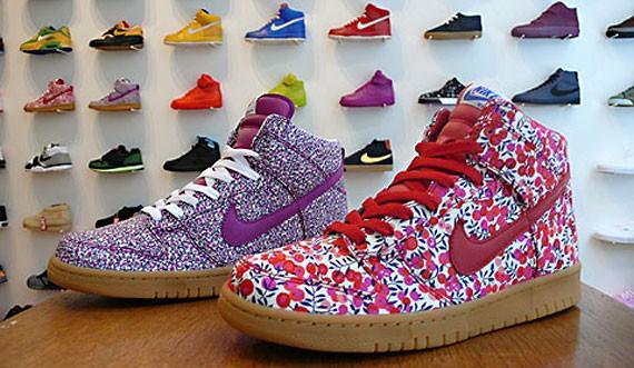 Nike Womens Dunk High - Liberty Fabric Pack