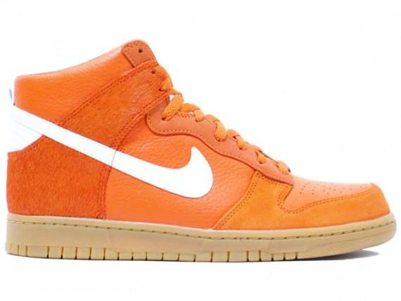 new product 6fd39 18dcb Nike Dunk High Premium '08 - Orange/White/Gum - SneakerNews.com