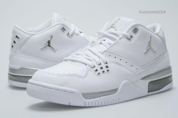 db77c42dbbe Air Jordan Flight 23 - White - Metallic Silver - SneakerNews.com