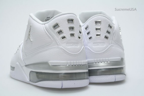 Air Jordan Flight 23 White Metallic Silver