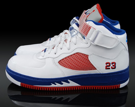 online retailer d00c6 8830d Air Jordan Force V (AJF 5) - White - Varsity Red - Blue Ribbon