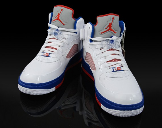 Air Jordan Retro 5 Rød Blå Hvit Basketball 7i7kP8LHL