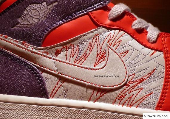 Air Jordan 1 - GS - Grey Violet - Sunburst - White