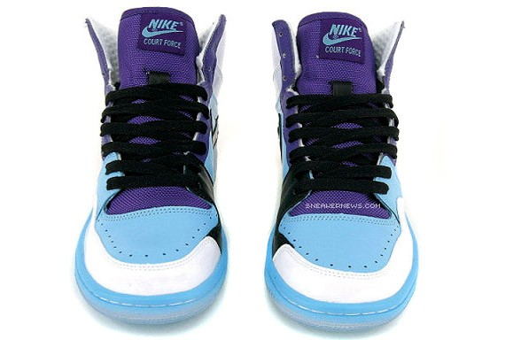 the latest b9f23 520d7 Nike Court Force High - White - Blue Chill - Purple