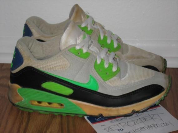 90 Air Neon Vintage Max White Nike Green Black 8n0vmNwO