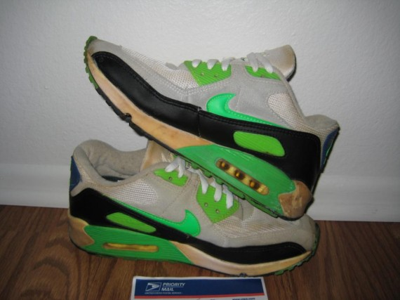 check out ad1cf 5de5a Nike Air Max 90 Vintage - White - Neon Green - Black ...