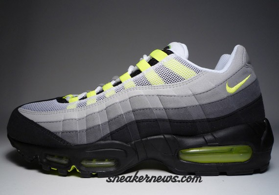 new arrival c446f 9d2ce Nike Air Max 95 Neon - History of Air vs 2008 Comparison
