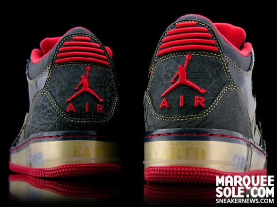 Air Jordan Force III (AJF 3) - Black - Metallic Gold - Varsity Red