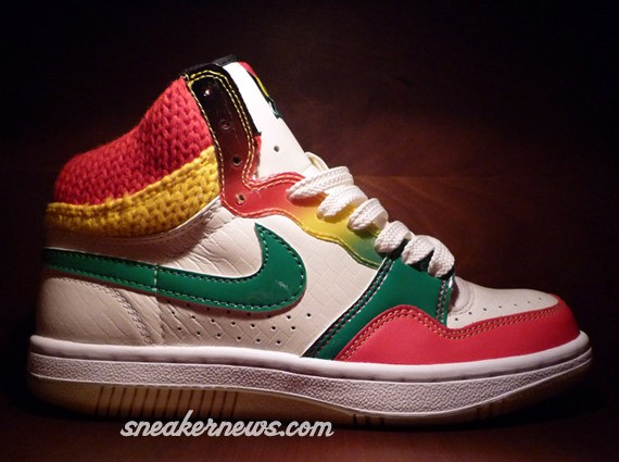 Nike Court Force High - WMNS - Jamaica - Washed Green - Comet Red - Gum Yellow