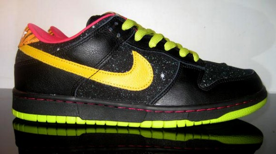 aced1b7abb58 Nike Dunk Low Pro SB - Randy Colvin Space Tiger - Black - Lightning ...