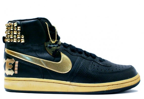 Nike Terminator High Supreme Black Gold Rock amp Roll Pack