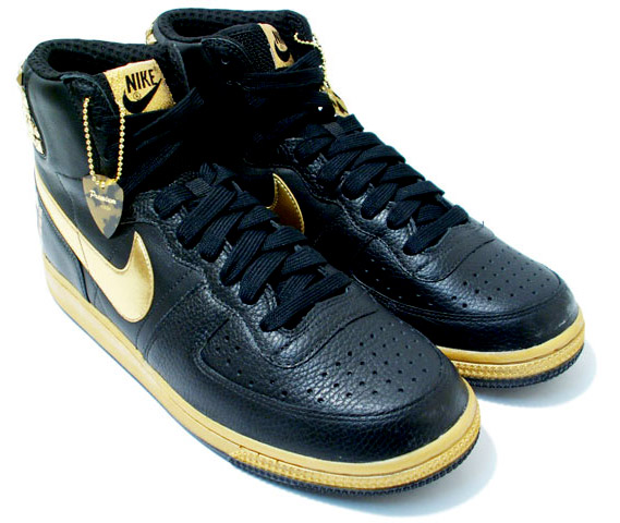 nike terminator high supreme black - gold - rock  u0026 roll pack