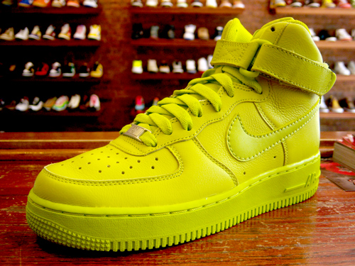 nike air force 1 high neon yellow green