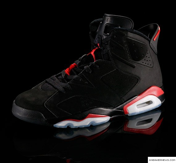 black red jordan 6