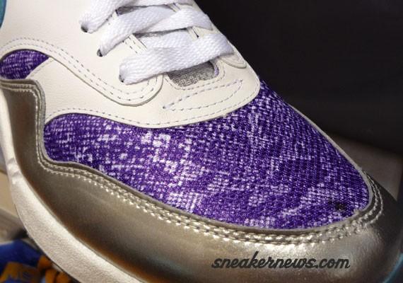 pick up b8351 ebd73 Nike Air Max 1 - White - Silver - Purple - Snake - Sample