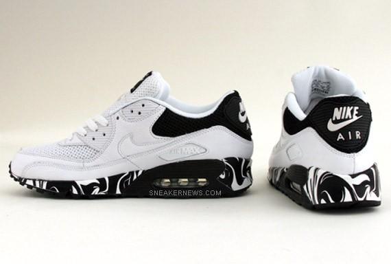 air max white black