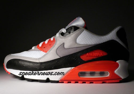 Nike Air Max 90 Premium Infrared Ostrich Shoes