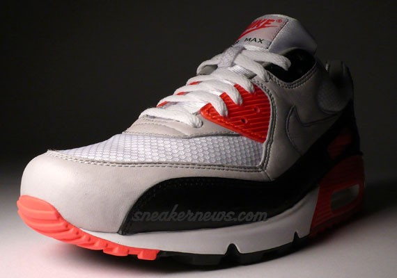 5a69291dc81 Slightly Yellowed  Nike Air Max 90 Infrared Premium - Ostrich and ...